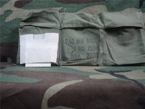 308 6 Pocket cloth bandoleer with cardboard insert. 10 pack