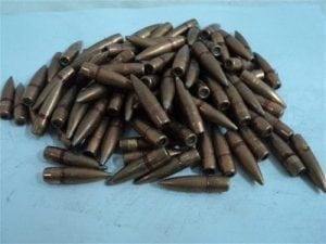 .310 dia. (up to -001) projectiles approx. 140 to 147 grain. 100 projectile pack.