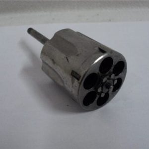 357 Magnum revolver cylinder (small). Not recessed, Stainless steel, 86 or 686. Price per cylinder.