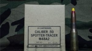 50 cal spotter tracer M48A-2. 10 round box.