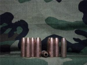 50 cal spotter tracer hollow bullet jackets (inert). 10 projectile pack.