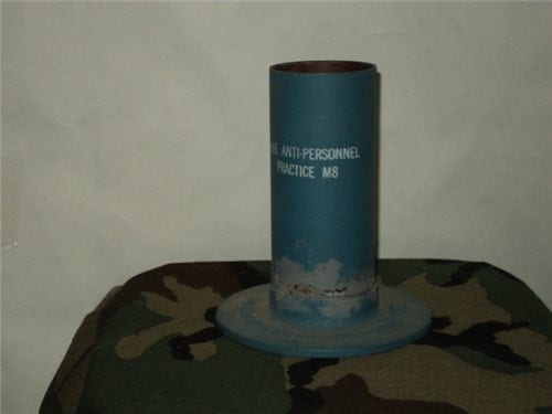 Bouncing Betty inert anti personnel training mines M-8 (large type). No fuse