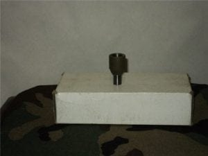 Bouncing Betty adapter to attach training fuse to training mine (not for small mines)