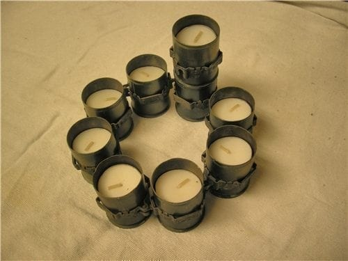 40mm HG fired cases in a circle of 8.