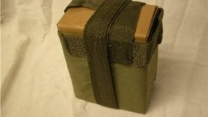 308 M-60 100 Round box and Bandoleers. This pack comes with 12 of the boxes in bandoleers.