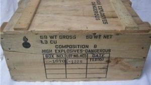 Empty Wood Comp B Box