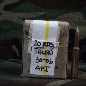 30-06 Api ammo. 20 round box (talon reloads)