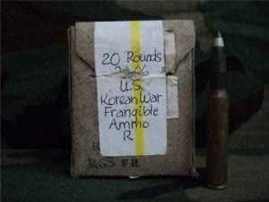 30-06 Korean frangible ammo. 20 round box