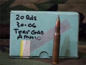 30-06 Tear gas ammo. 20 round box