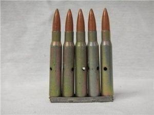 30 caliber/ 8mm dummy rounds. 100 round bag.