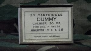 30-06 dummy round original 20 rd. paper box
