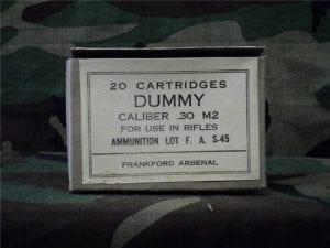 30-06 dummy round original 20 rd. paper box