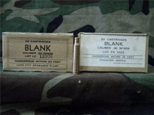 30-06 U.S blanks in 20rd box
