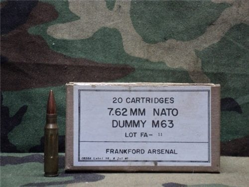 308 dummy rounds in 20rd box Nato FA-11