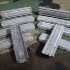 Five shot stripper clips steel. 10 clip pack