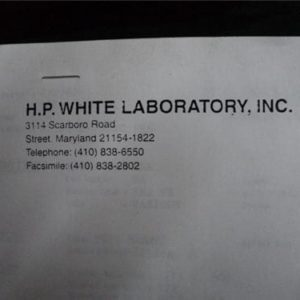 H.P. White loading data for Rad-78L powder.