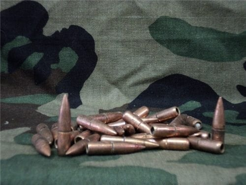 30 Caliber White base tracer bullets. 1000 projectile pack