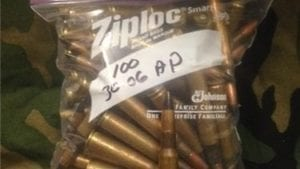 30-06 AP AMMO. Brass case mixed headstamp. 100 round pack.