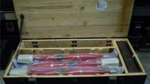 RPG 9A wooden case of 6 rockets with boosters