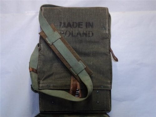 Poland hard cnvas leather rocket (or takedown firearm) backpack carrier