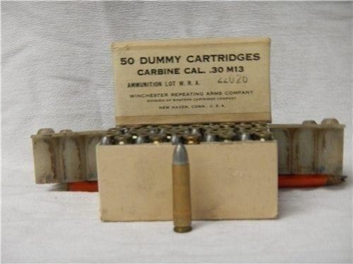 30 carbine dummy rounds in original 50 round box.