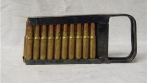 7.35 Carcano ammo in 20 RD MG stripper clips.