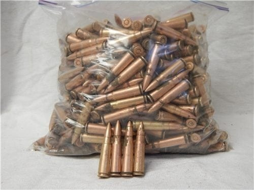 7.62×39 green tracer Egyptian, May not trace or fire, sold as conponents only. 100 round bag.