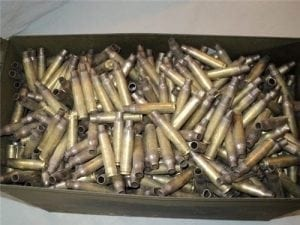 223 Military Fired Brass Cases. Range-pickup 1000 brass bag
