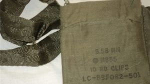 223 M-16/AR-15 4 pocket cloth bandoleer