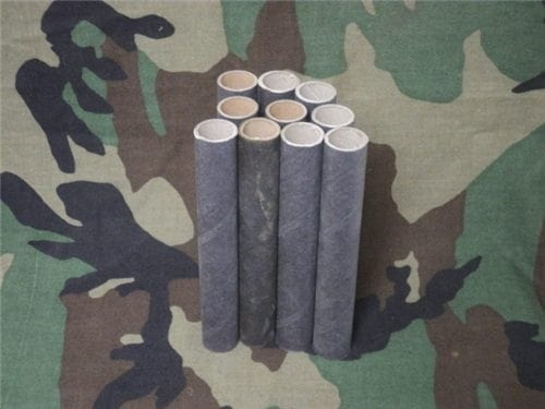 one inch by 6 inch cardboard tubes. Pack of 10