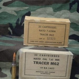 308 Tracer ammo M-62. 20 round box