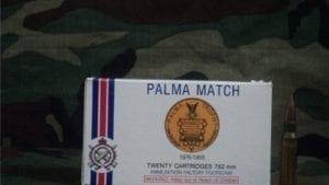 308 Palma match ammo. 20 round box