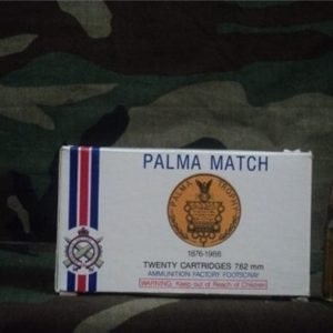 308 Palma match ammo. 20 round box