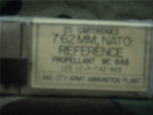 308 Reference ammo. 20 round box