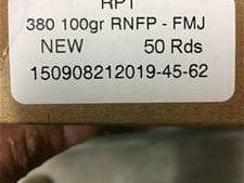 380 Auto New Ammo
