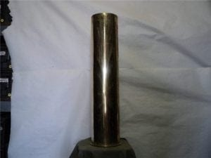 6 inch polished brass case on base, Polte Magdeburg july 1916