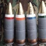 5 Inch Navy Dye Marker Projectile with Windscreen MK-46 Mod-1, Dye has been removed