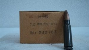 7.62×39 ball ammo Comm Block Grey case, Steel core pre 1986 ammo. 20 round box. .