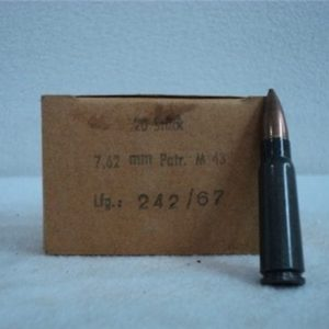 7.62×39 ball ammo Comm Block Grey case, Steel core pre 1986 ammo. 20 round box. .