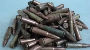 7.62×39 ball and tracer ammo, Battle field pickups may not trace or fire, sold as components only. 100 round bag.
