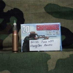 7.62×39 frangible ammo. 20 round box.