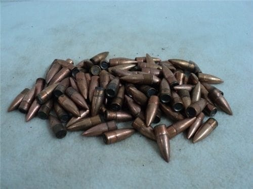 762×39 Egyptian flat base ball projectiles, 123 grain. projectiles. 86 projectile bag.