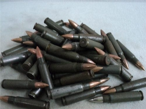 7.62×45 SHE Mixed ball and tracer ammo. 100 round pack. Sold AS IS.