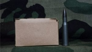 7.62X54R Match ammo steel core with 139 grain steel core grey projectile. 20 round pack