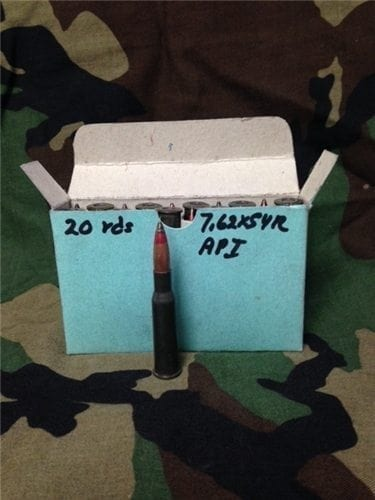 7.62x54R API Ammo. 20 round package