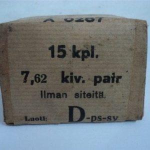 7.62x54R API ammo in 15 round original box.