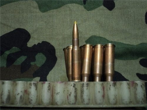 7.62X54R HEAVY BALL YELLOW TIP AMMO. 20 round pack