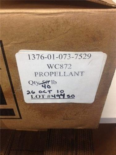 WC872 powder. 40 lb box