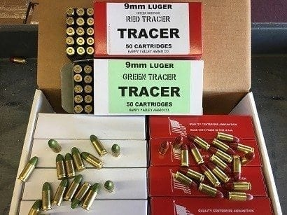 9MM Red/Green Tracer Ammo