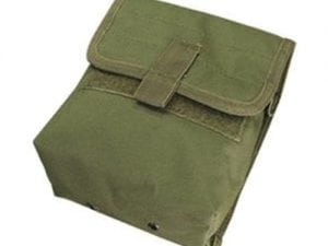 Ammo Pouch, Elastic Slit With Secondary hook and loop Flap – Import Size 7″H x 6.5″W x 3″D Color MultiCam, ACU, Olive Drab,